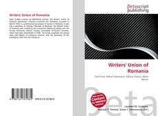 Bookcover of Writers' Union of Romania