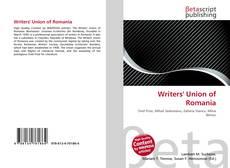 Portada del libro de Writers' Union of Romania