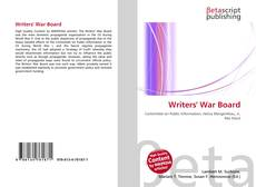 Bookcover of Writers' War Board