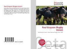 Capa do livro de Paul Grayson (Rugby Union)