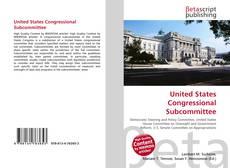 Capa do livro de United States Congressional Subcommittee