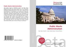 Couverture de Public Works Administration