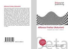 Portada del libro de Alfonso Froilaz (Asturien)