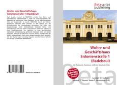 Bookcover of Wohn- und Geschäftshaus Sidonienstraße 1 (Radebeul)