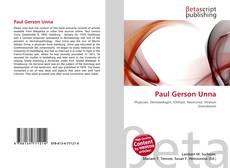 Bookcover of Paul Gerson Unna