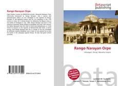 Portada del libro de Rango Narayan Orpe