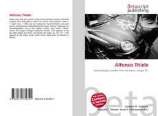 Portada del libro de Alfonso Thiele