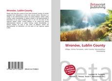 Wronów, Lublin County kitap kapağı