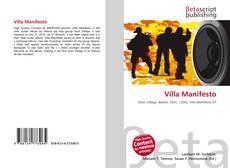 Buchcover von Villa Manifesto