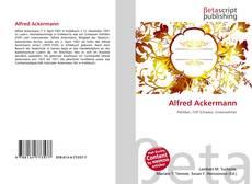 Portada del libro de Alfred Ackermann