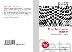 Alfred Ackermann-Teubner kitap kapağı