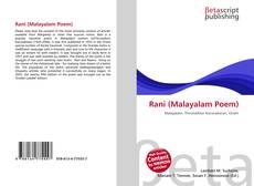 Rani (Malayalam Poem)的封面