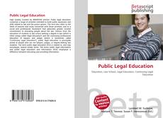 Bookcover of Public Legal Education