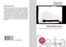 Alfred Baeumler kitap kapağı