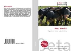 Paul Honiss kitap kapağı