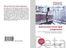 Portada del libro de Bahnstrecke Erfurt–Bad Langensalza