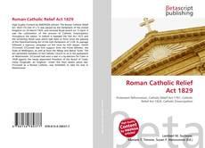 Roman Catholic Relief Act 1829 kitap kapağı