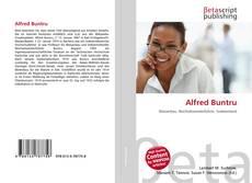 Bookcover of Alfred Buntru