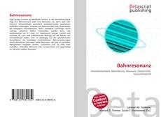 Bookcover of Bahnresonanz