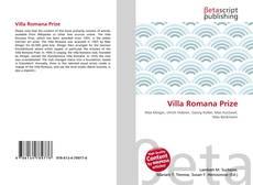 Borítókép a  Villa Romana Prize - hoz