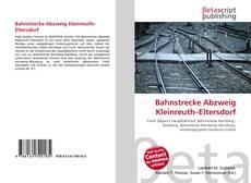 Portada del libro de Bahnstrecke Abzweig Kleinreuth–Eltersdorf