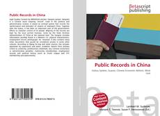 Couverture de Public Records in China