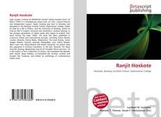 Ranjit Hoskote kitap kapağı