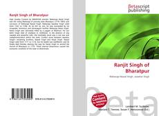 Bookcover of Ranjit Singh of Bharatpur