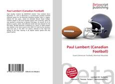 Обложка Paul Lambert (Canadian Football)