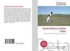 Copertina di South Africa A Cricket Team