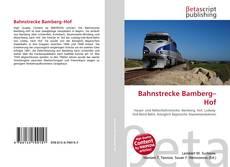 Portada del libro de Bahnstrecke Bamberg–Hof