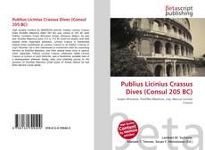Borítókép a  Publius Licinius Crassus Dives (Consul 205 BC) - hoz