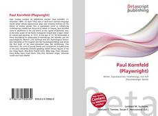 Bookcover of Paul Kornfeld (Playwright)