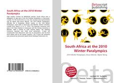 Bookcover of South Africa at the 2010 Winter Paralympics