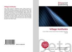 Bookcover of Village Institutes