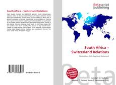 South Africa – Switzerland Relations的封面