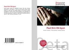 Paul Kim Ok-kyun kitap kapağı