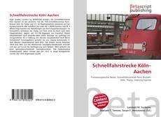 Capa do livro de Schnellfahrstrecke Köln–Aachen