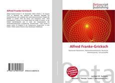 Buchcover von Alfred Franke-Gricksch
