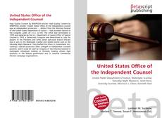 Portada del libro de United States Office of the Independent Counsel
