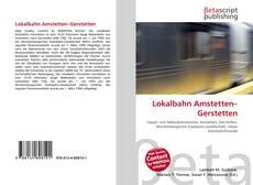 Capa do livro de Lokalbahn Amstetten–Gerstetten