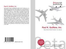Paul K. Guillow, Inc.的封面