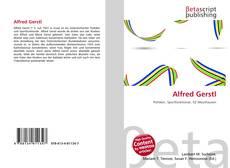 Buchcover von Alfred Gerstl