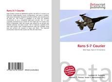 Copertina di Rans S-7 Courier