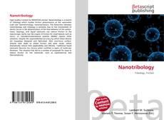 Couverture de Nanotribology