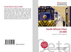 Bookcover of South African Class 33-000