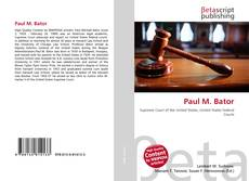 Couverture de Paul M. Bator