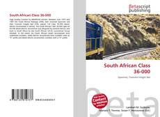Bookcover of South African Class 36-000