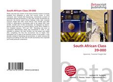 Bookcover of South African Class 39-000