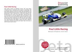 Buchcover von Paul Little Racing
